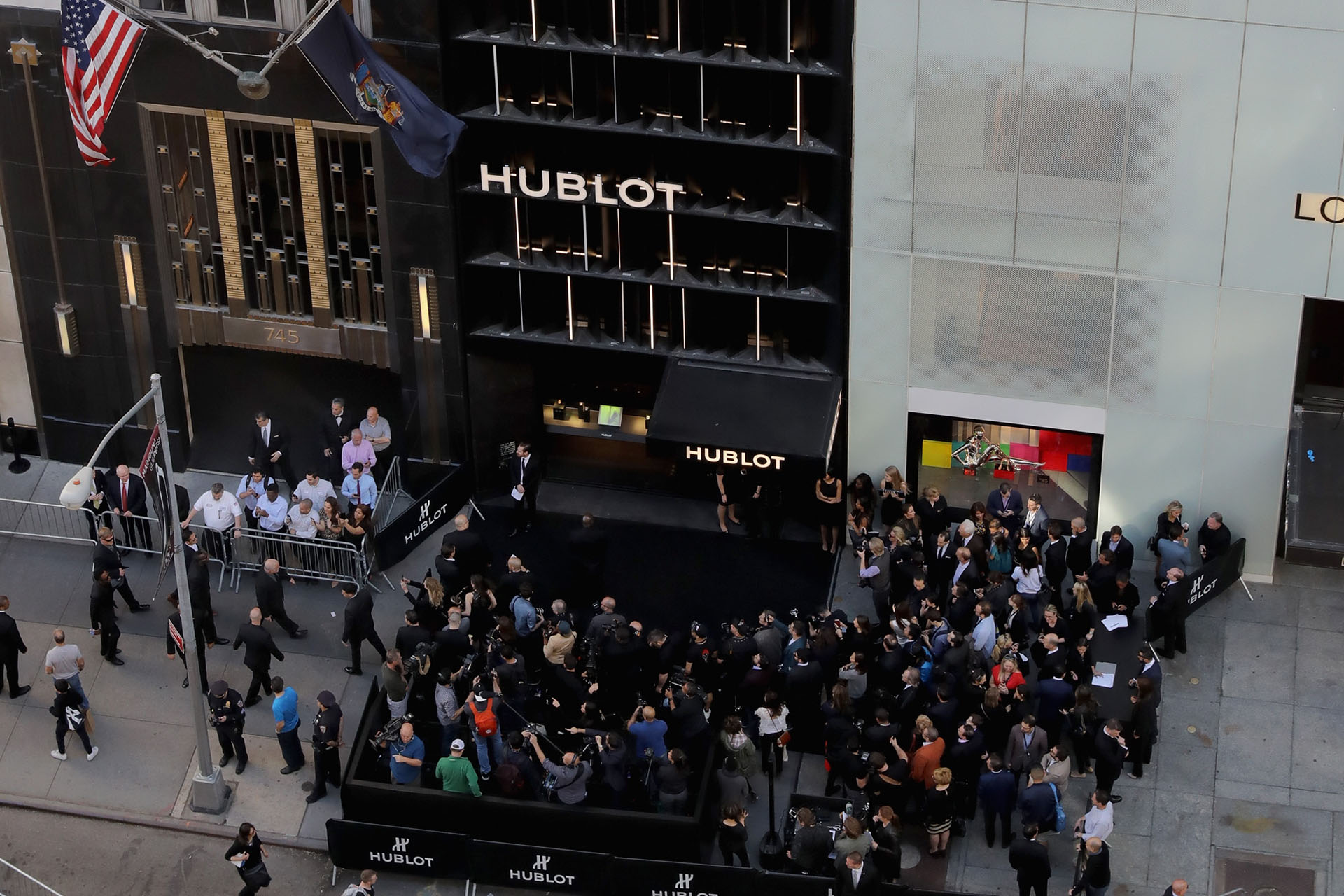 A view of the Hublot Fifth Avenue Boutique