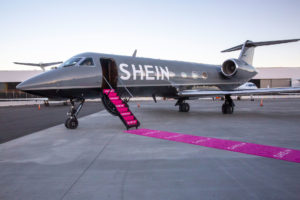 Private Jet with SHEIN paint job for the SHEIN Influencer trip