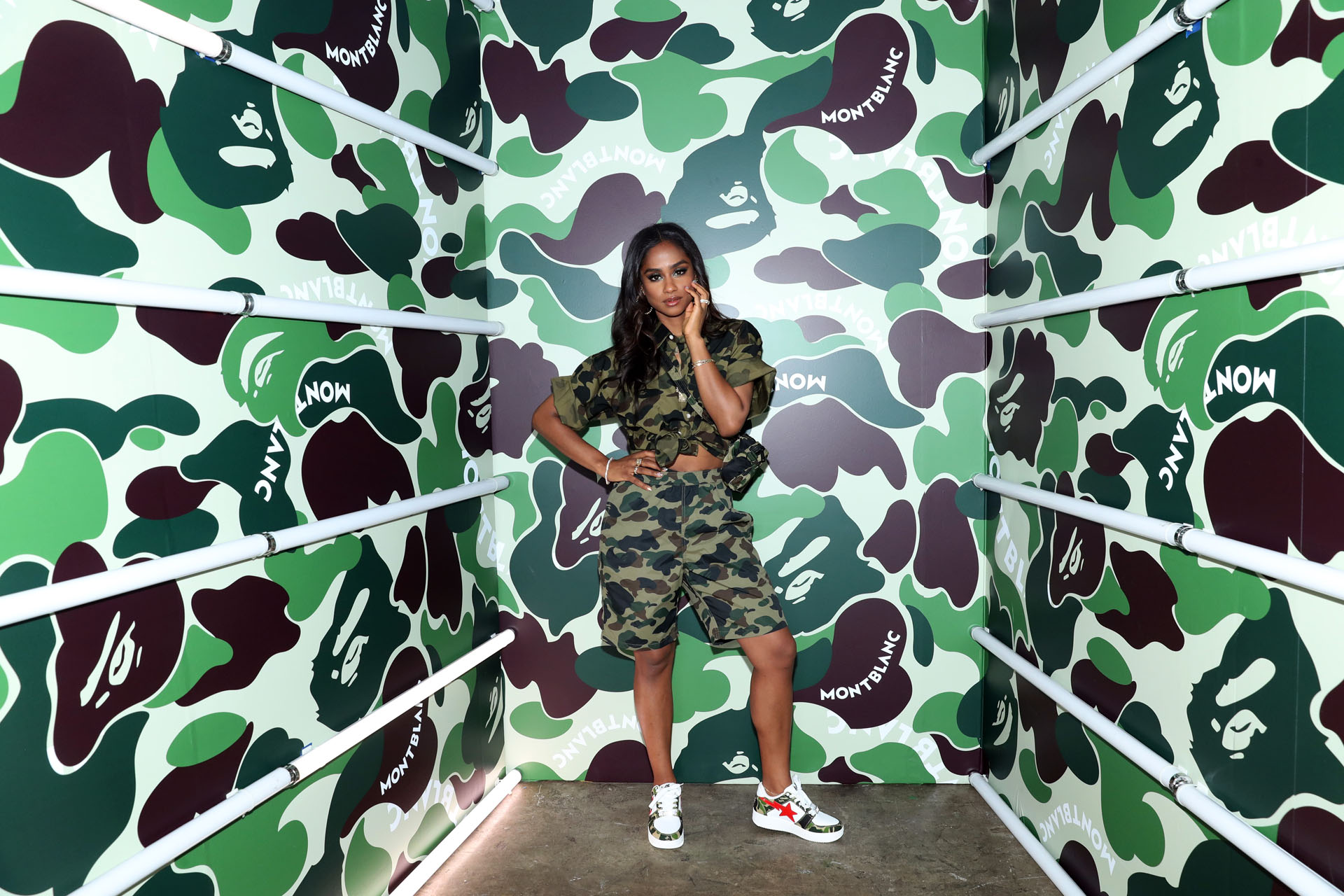Vashtie attends as Montblanc and BAPE celebrate a Limited Edition Collaboration