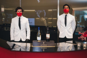 Bartenders at the Ferrari Roma Launch
